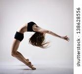 young beautiful dancer teen...   Shutterstock . vector #138628556