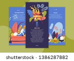 bbq time and summer picnic... | Shutterstock .eps vector #1386287882