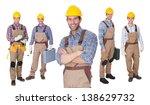 portrait of happy construction... | Shutterstock . vector #138629732