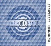 Time For Change Blue Emblem Or...