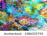 abstract painting drawn... | Shutterstock . vector #1386325745
