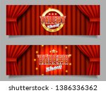 talent show horizontal vector... | Shutterstock .eps vector #1386336362