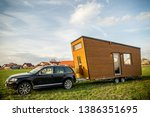 mobile tiny house. great for... | Shutterstock . vector #1386351695