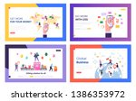 e mail service  global business ... | Shutterstock .eps vector #1386353972