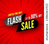 limited time only flash sale... | Shutterstock .eps vector #1386361922