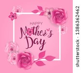 mother's day greeting card ...   Shutterstock .eps vector #1386362462