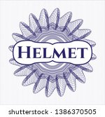 blue money style rosette with... | Shutterstock .eps vector #1386370505