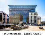 Small photo of Brussels, Belgium - April 22, 2019: Since 2017 the Europa building is the seat of the Council of the European Union and the European Council, formerly housed in the Justus Lipsius building.