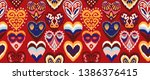 valentine's day. seamless... | Shutterstock .eps vector #1386376415