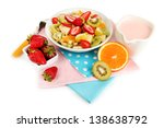 useful fruit salad of fresh... | Shutterstock . vector #138638792