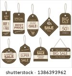 price tag retro vintage... | Shutterstock .eps vector #1386393962