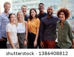group portrait of a creative... | Shutterstock . vector #1386408812