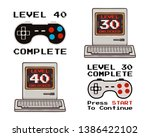 happy 40th and 30th birthday... | Shutterstock .eps vector #1386422102