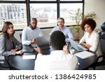corporate business people in a... | Shutterstock . vector #1386424985