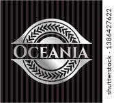 oceania silver badge or emblem. ... | Shutterstock .eps vector #1386427622