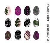vecor easter eggs illustration...   Shutterstock .eps vector #1386430988