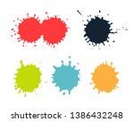color paint splashes.grunge...   Shutterstock .eps vector #1386432248
