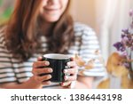 closeup image of a beautiful... | Shutterstock . vector #1386443198
