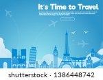 it s time to travel.travel... | Shutterstock .eps vector #1386448742