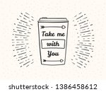 hand drawn take away coffee cup ... | Shutterstock .eps vector #1386458612