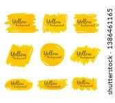 yellow crayon watercolor...   Shutterstock .eps vector #1386461165
