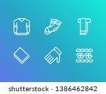 cloth icon set and gloves with...