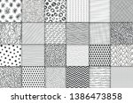 abstract hand drawn geometric... | Shutterstock .eps vector #1386473858