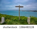 Signpost Made Of Wood With...
