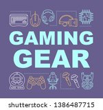 gaming gear word concepts...