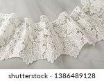 White Delicate Silk Lace ...