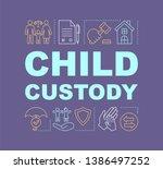 child custody word concepts...