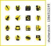 music icons set with radio ...