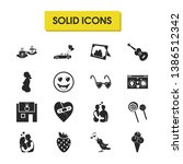 valentine icons set with...