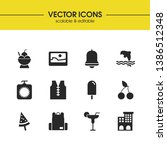 season icons set with...