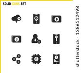cryptocurrency icons set with... | Shutterstock .eps vector #1386512498