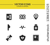 healthcare icons set with chest ...