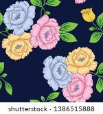 All Over Vector Flowers Pattern ...