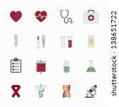 medical icons with white... | Shutterstock .eps vector #138651722