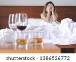 young exhausted and wasted... | Shutterstock . vector #1386526772