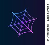 spider web  icon. simple thin...