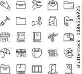 thin line vector icon set  ... | Shutterstock .eps vector #1386556925