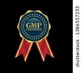 good manufacturing practice.... | Shutterstock .eps vector #1386557255