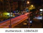 new york street at night time   Shutterstock . vector #13865620