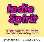 simple pop art font effect for... | Shutterstock .eps vector #1386571772