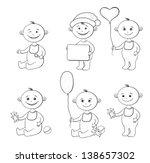 set cartoon children with toys  ... | Shutterstock .eps vector #138657302