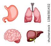 cartoon illustration set of... | Shutterstock .eps vector #1386581432