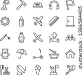 thin line vector icon set  ... | Shutterstock .eps vector #1386584405