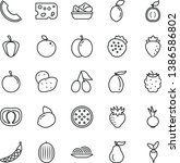thin line vector icon set  ... | Shutterstock .eps vector #1386586802