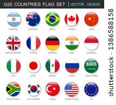 G20 Countries Flags  Set And...
