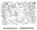 Unicorns Coloring Page....